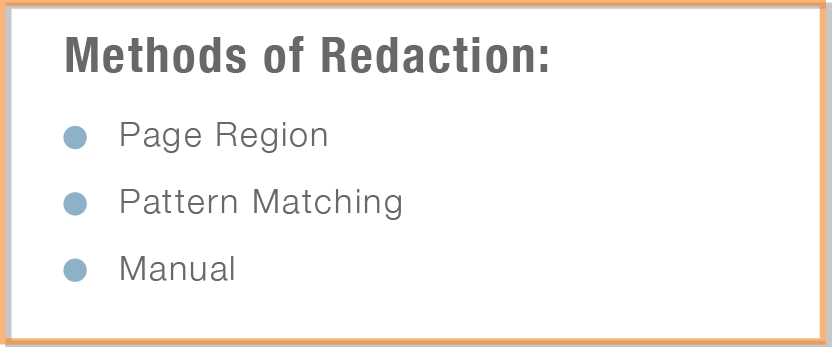 Redaction Methods