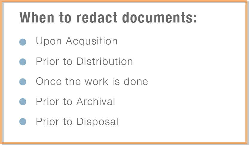 When to redact content
